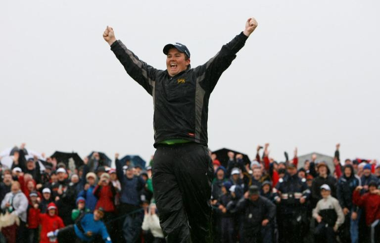 Shane Lowry celebrates his stunning 2009 Irish Open victory as an amateur