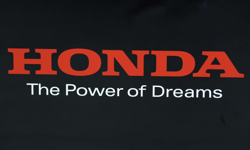 The logo of the Honda Motor Co. is seen at its showroom in Tokyo, Wednesday, May 8, 2019. Honda reported a loss for January-March, despite growing sales, as an unfavorable exchange rate, income tax expenses and other costs hurt results. (AP Photo/Koji Sasahara)
