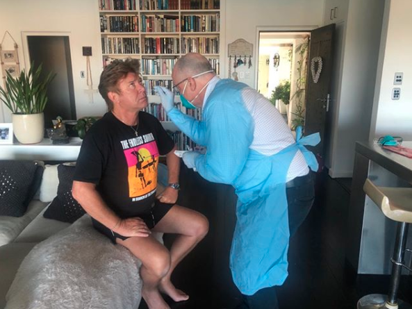 Richard Wilkins getting tested for coronavirus at home