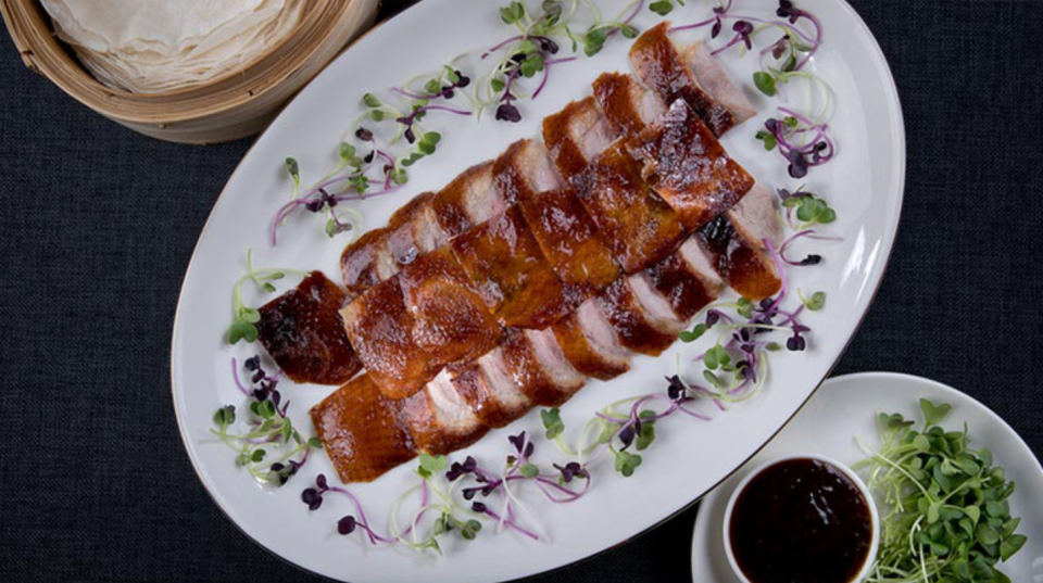Peking Duck pancakes. Photo: The Imperial