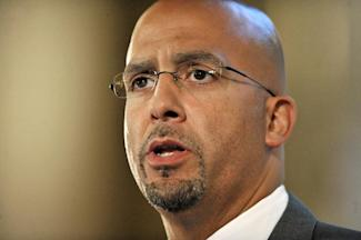 James Franklin is burdened with resuscitating a storied program. (AP Photo)