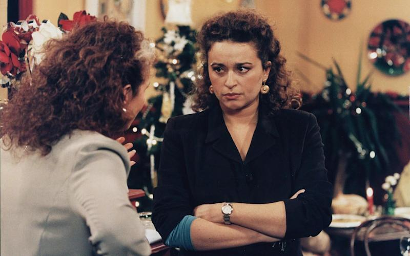 Nadia Sawalha rose to fame as 'EastEnders' crook Annie Palmer in 1997. (Credit: BBC)