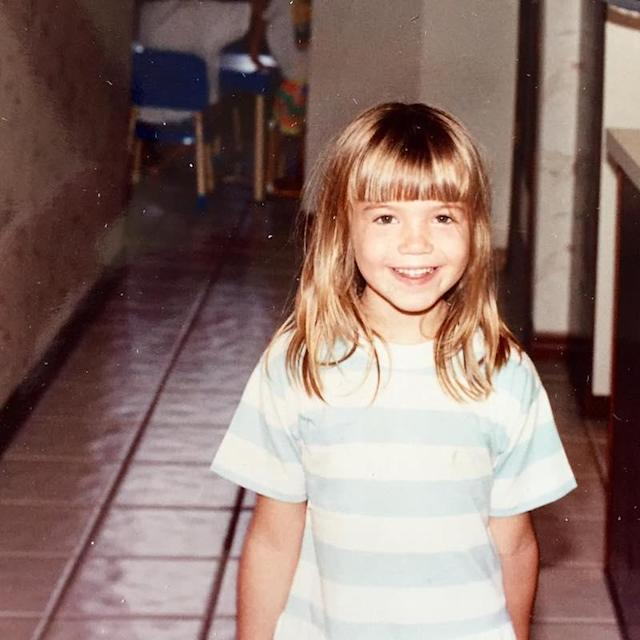 "<p>No matter her age, Mandy was always photogenic. She quipped that this photo was proof she had always loved ""a striped shirt and [bangs]."" (Photo: Mandy Moore via <a href=""https://www.instagram.com/p/BHS_-mZgxjv/?taken-by=mandymooremm&hl=en"" rel=""nofollow noopener"" target=""_blank"" data-ylk=""slk:Instagram"" class=""link rapid-noclick-resp"">Instagram</a>) </p>"