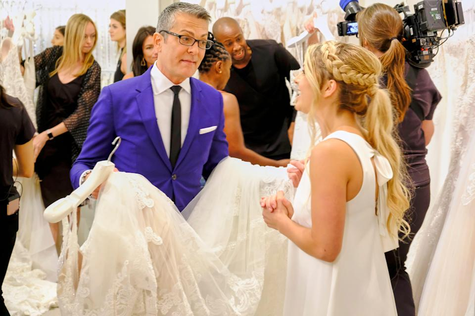 """Randy Fenoli helps a bride find her dress in the season finale of TLC's """"Say Yes to the Dress America."""""""