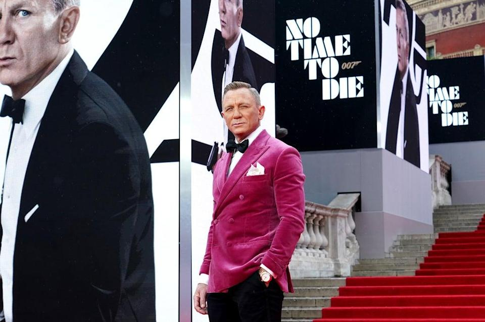 Daniel Craig attending the World Premiere of No Time To Die (Ian West/PA) (PA Wire)