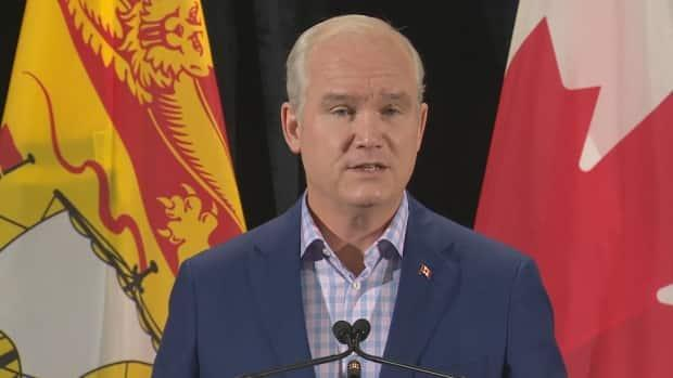 Conservative Party of Canada leader Erin O'Toole said he's pro-choice, but would leave it up to the New Brunswick government to decide how it funds abortions. (Ed Hunter/CBC - image credit)
