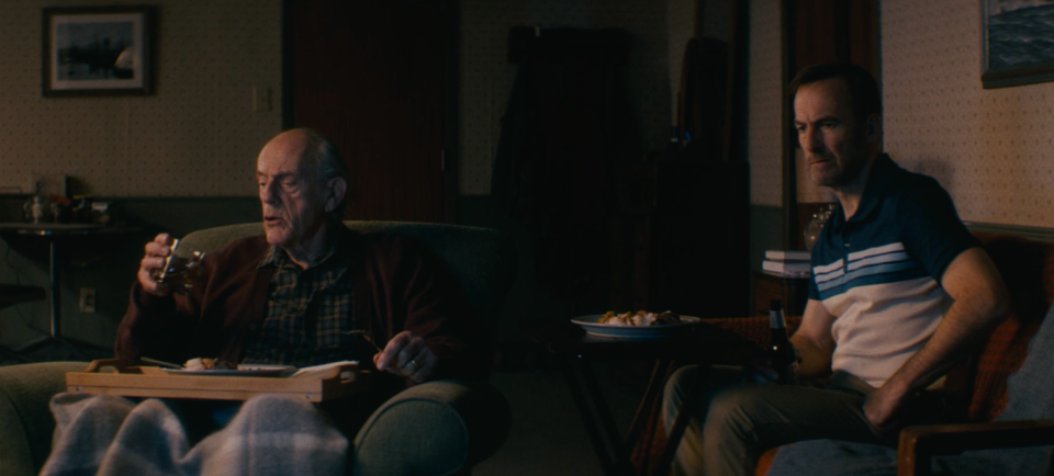 Christopher Lloyd and Bob Odenkirk in Nobody. (Universal Pictures)