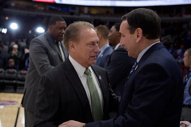 Tom Izzo's reward for winning the Big Ten could be an eventual date with Mike Krzyzewski. (Getty)