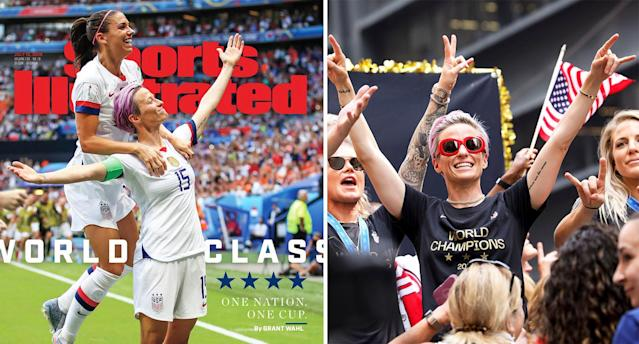 Megan Rapinoe is becoming an internet sensation. [Photo: Getty/Sports Illustrated]