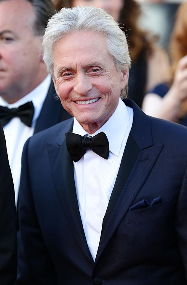 "CANNES, FRANCE - MAY 21:  Michael Douglas attends the ""Behind The Candelabra"" Premiere during the 66th Annual Cannes Film Festival at Grand Theatre Lumiere on May 21, 2013 in Cannes, France.  (Photo by Vittorio Zunino Celotto/Getty Images)"