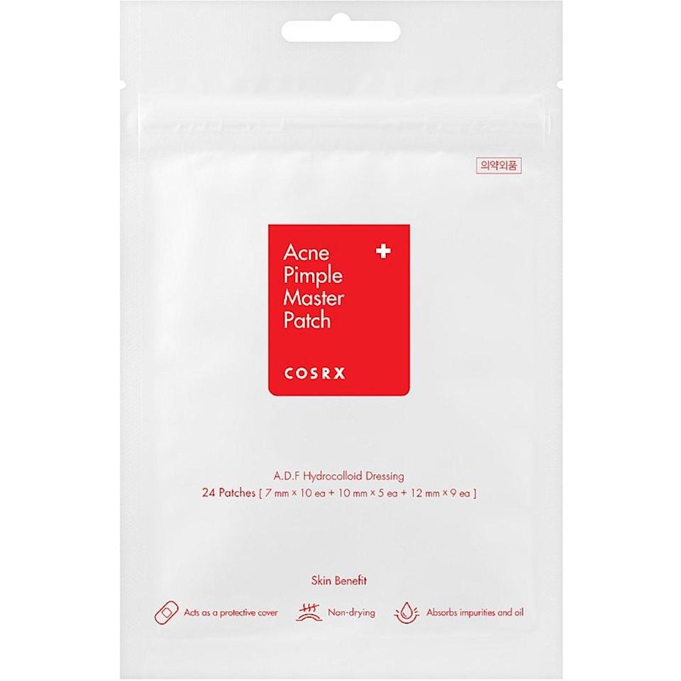 "<p>Everyone — even <em>Allure</em> readers and editors — gets breakouts sometimes, but we're proud to say that <em>Allure</em> fans apparently know exactly what to do. These hydrocolloid <a href=""https://www.allure.com/story/hydrocolloid-bandages-acne-stickers?mbid=synd_yahoo_rss"" rel=""nofollow noopener"" target=""_blank"" data-ylk=""slk:pimple patches"" class=""link rapid-noclick-resp"">pimple patches</a> from CosRX made the most-purchased list for two months in a row. They sit for a few hours on skin and, with a bit of salicylic acid and some luck, they dissolve the mini mountains underneath.</p> <p><strong>$6</strong> (<a href=""https://shop-links.co/1699266000634125674"" rel=""nofollow noopener"" target=""_blank"" data-ylk=""slk:Shop Now"" class=""link rapid-noclick-resp"">Shop Now</a>)</p>"