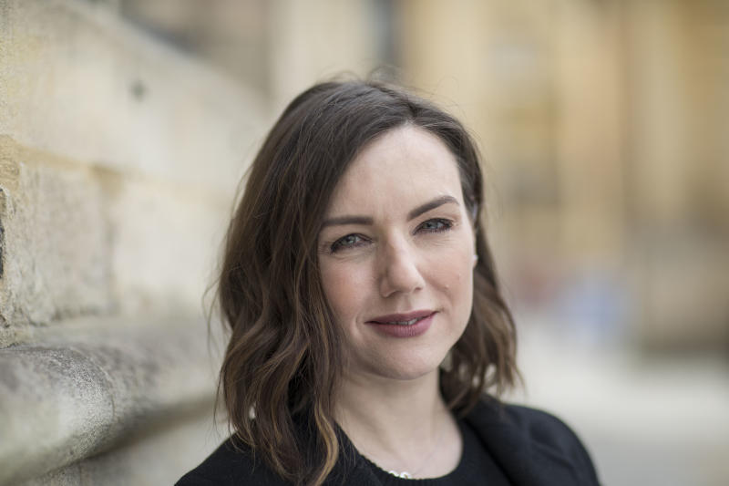 OXFORD, ENGLAND - APRIL 01: Sali Hughes, beauty journalist and broadcaster, at the FT Weekend Oxford Literary Festival on April 1, 2017 in Oxford, England. (Photo by