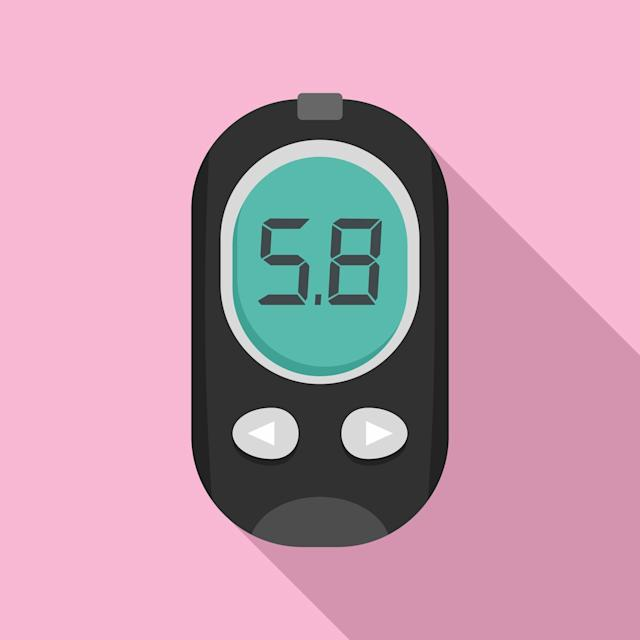 Hormones affect a myriad of functions in the body, from hunger to mood. Pictured here is an illustration of a blood glucose measure. (Getty Images)