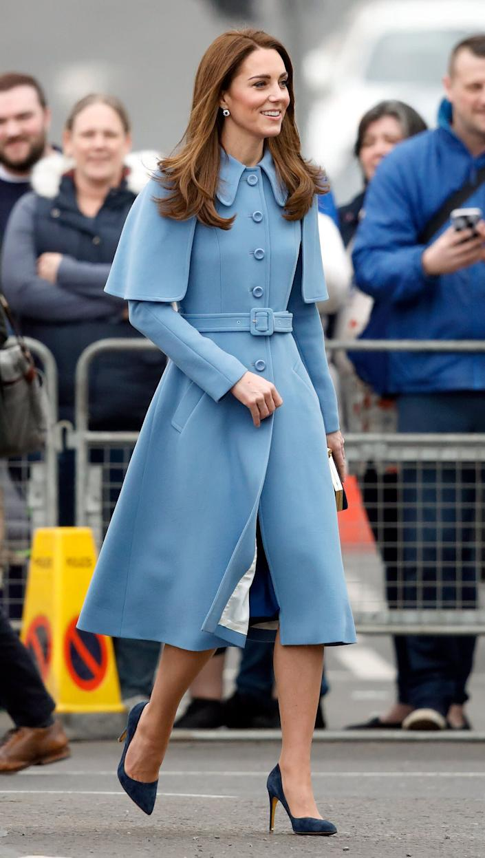 The duchess visits CineMagic at the Braid Arts Centre in Ballymena, Northern Ireland, on Feb. 28.