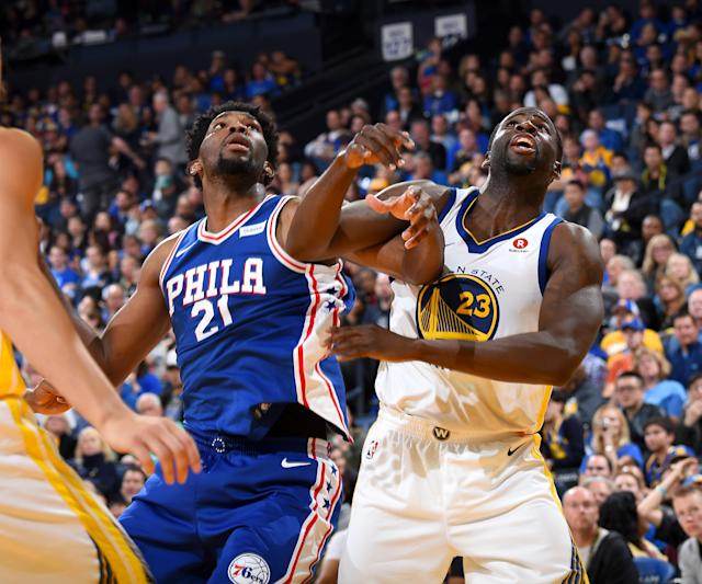 Joel Embiid makes his first All-Defensive Team appearance, while Draymond Green logs his fourth. (Getty)