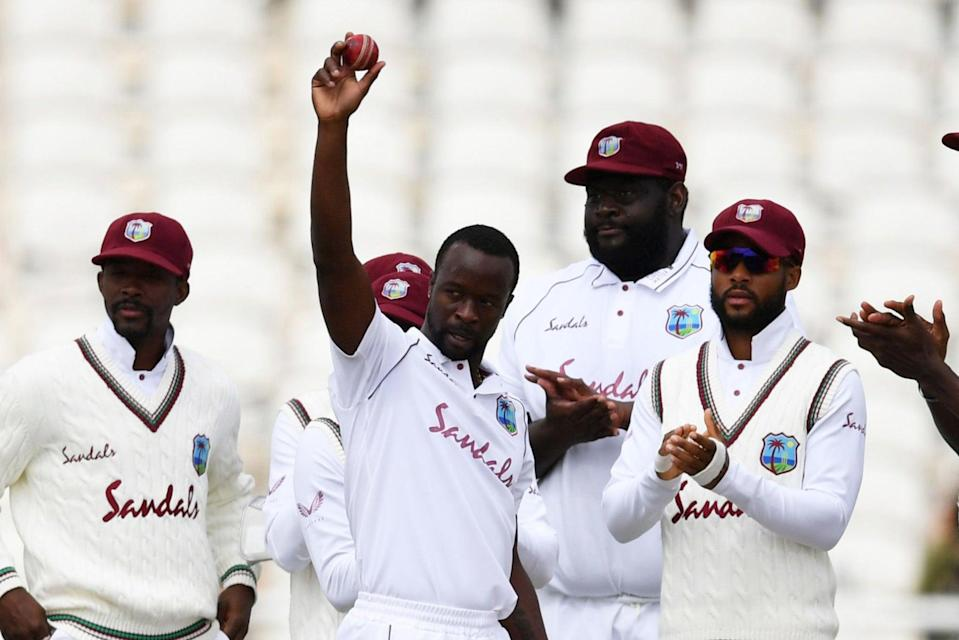 <p>Kemar Roach has taken more than 200 Test wickets for West Indies</p> (Getty Images for ECB)