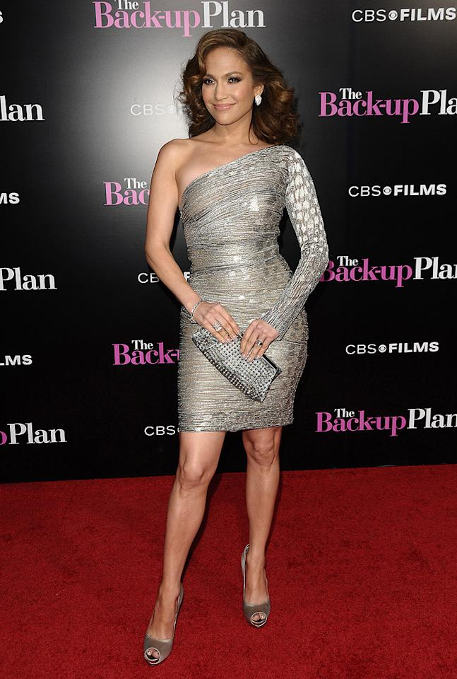 """<a href=""""http://movies.yahoo.com/movie/contributor/1800023864"""">Jennifer Lopez</a> at the Los Angeles premiere of <a href=""""http://movies.yahoo.com/movie/1810107558/info"""">The Back-up Plan</a> - 04/21/2010"""