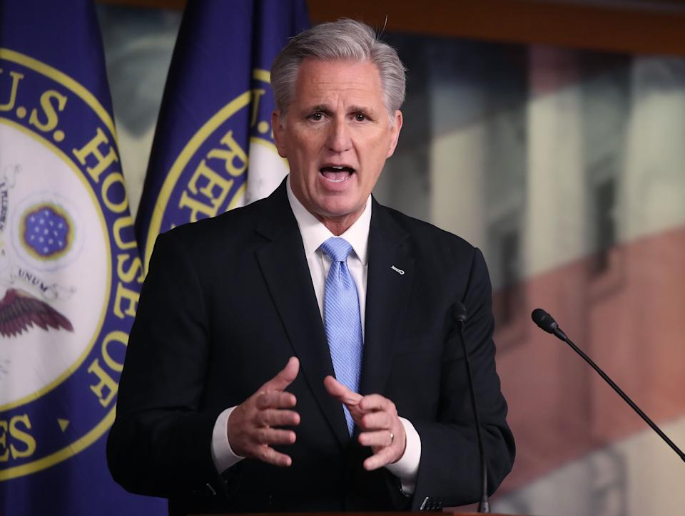 "House Minority Leader Kevin McCarthy (R-Calif.) thinks ""everybody across this country has some responsibility."" (Photo: Mark Wilson via Getty Images)"