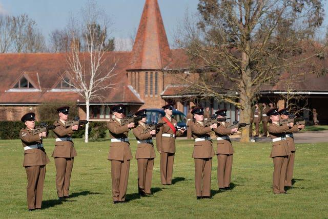 A three-round gun salute by a firing party marked the occasion