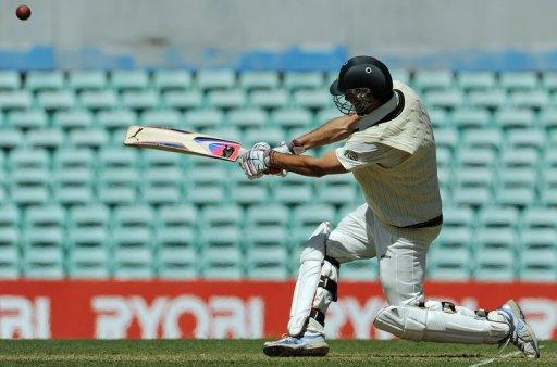 Rob Quiney of Australia A plays a stroke against South Africa at the Sydney Cricket Ground on Friday