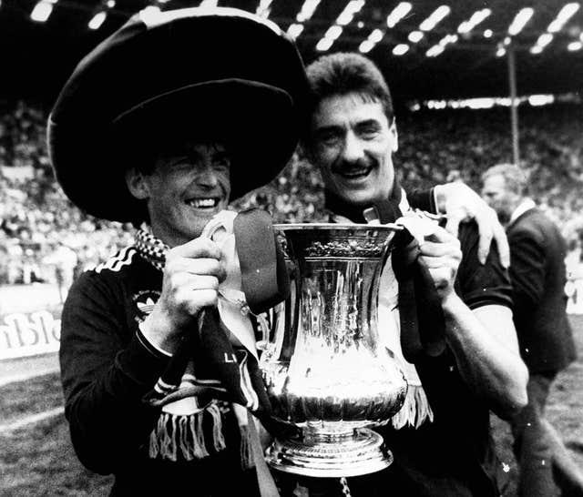 Kenny Dalglish (left) and Ian Rush with the FA Cup