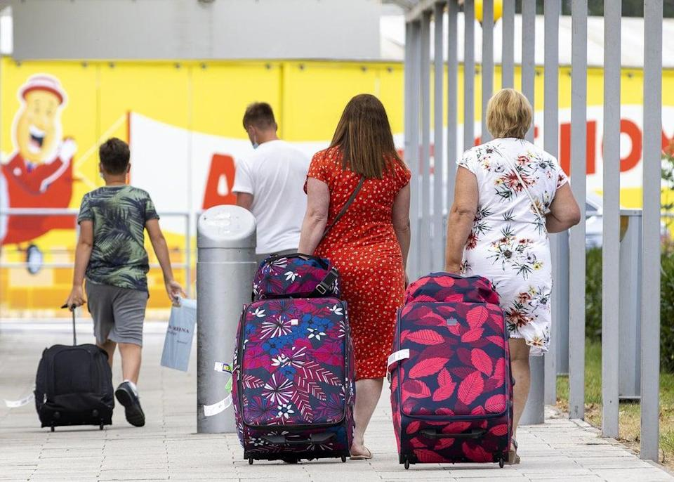 Passengers returning from red list countries to England will still have to quarantine under new rules – whether vaccinated or not (Liam McBurney/PA) (PA Wire)