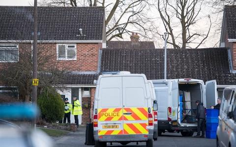 Police search the home of Sergei Skripal - Credit: Paul Grover