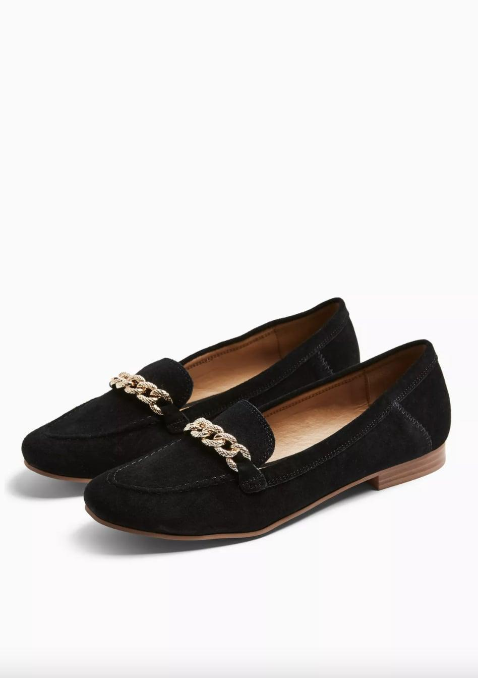 <p>These <span>Topshop LEO Black Leather Chain Trim Loafers</span> ($39, originally $55) will take you from the office to a casual happy hour.</p>
