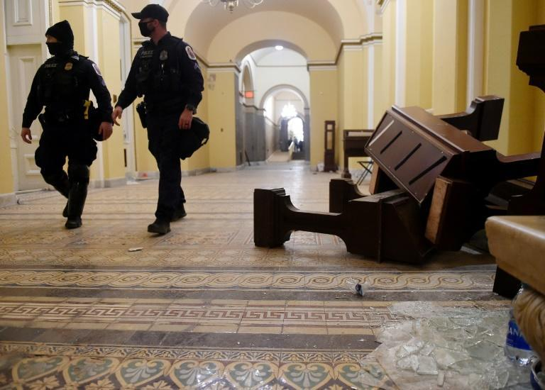 Supporters of US President Donald Trump breached security and caused damage after entering the building during a session of Congress