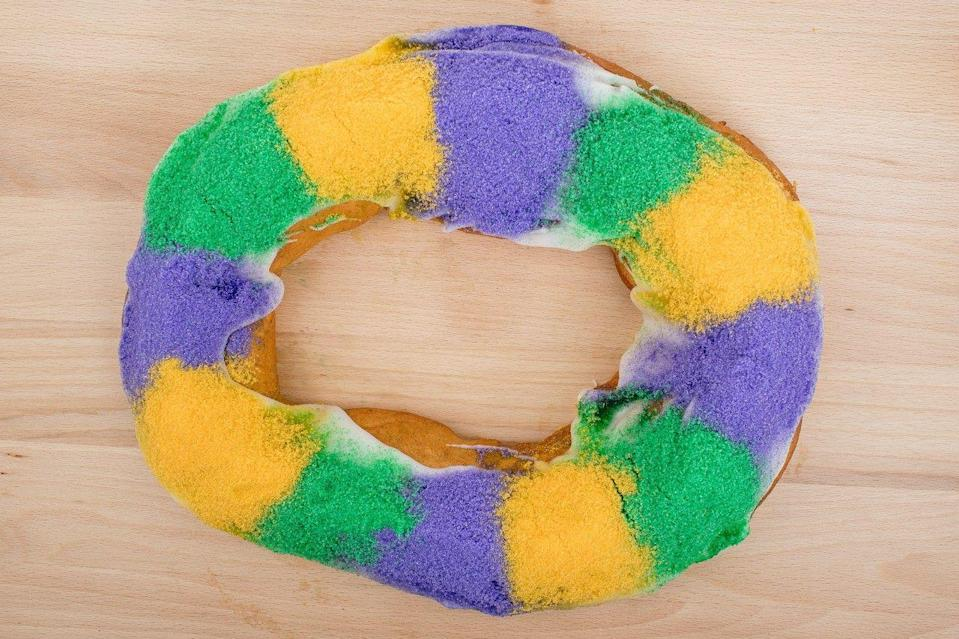"""<p>While Haydel's traditional king cake reigns supreme—it's covered with colored sanding sugar that dyes the frosting purple, green, and yellow—fans also love the many flavor options. Praline Pecan is a favorite, but you can also get cream cheese, strawberry, german chocolate, and chocolate chip brownie.</p><p><a class=""""link rapid-noclick-resp"""" href=""""https://haydelsbakery.com/featured/king-cakes/"""" rel=""""nofollow noopener"""" target=""""_blank"""" data-ylk=""""slk:ORDER TODAY"""">ORDER TODAY</a></p>"""