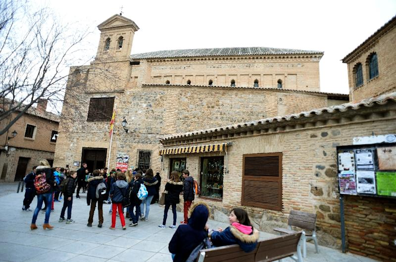 """The """"El Transito"""" synagogue in Toledo was converted into a church after the Sephardic Jews were expelled from Spain in 1492 (AFP Photo/Gerard Julien)"""