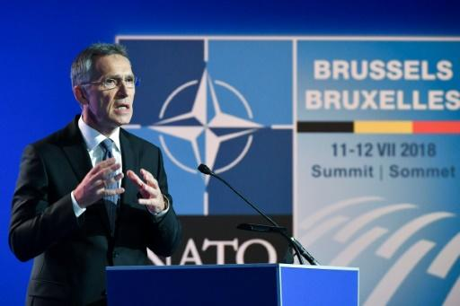 NATO Secretary General Jens Stoltenberg announces that seven European countries will meet the two percent of GDP defence spending target this year