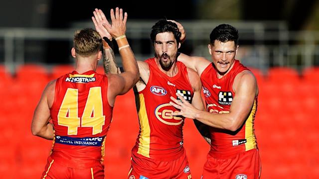 Gold Coast have continued their hot AFL form, thrashing Adelaide by 53 points at Metricon Stadium