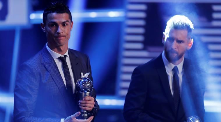 Cristiano Ronaldo and Lionel Messi play for rival clubs, Real Madrid and Barcelona, respectively.