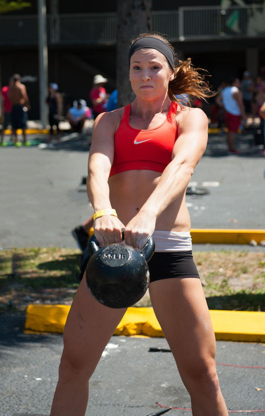"""<p>That means, you'll have to invest in <a href=""""https://s3.amazonaws.com/crossfitpubliccontent/CrossFitGames_Rulebook.pdf"""" rel=""""nofollow noopener"""" target=""""_blank"""" data-ylk=""""slk:standard CrossFit equipment"""" class=""""link rapid-noclick-resp"""">standard CrossFit equipment</a> if you don't already own it, such as Olympic-style barbells and plates, pull-up bars, jump ropes, dumbbells, and a plyo box.</p>"""