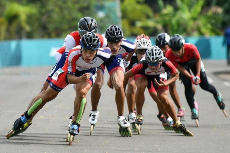 Roller skating was contested for only the second time at an Asian Games