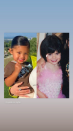 """<p>The 22-year-old beauty mogul shared a comparison photo of herself and her two-year-old daughter Stormi Webster around about the same age.<br></p><p>In the side-by-side snap, Kylie and Stormi smile at the camera. While Stormi's hair is slicked back into a ponytail, Kylie's is cut into a short bob with a fringe.</p><p> The photo came hours after the reality star shared a photograph of herself and the tot at Scott Disick's birthday party in California.</p><p>'My forever,' she captioned the sweet <a href=""""https://www.instagram.com/p/CAtCpDDnadw/"""" rel=""""nofollow noopener"""" target=""""_blank"""" data-ylk=""""slk:photo"""" class=""""link rapid-noclick-resp"""">photo</a>.</p>"""