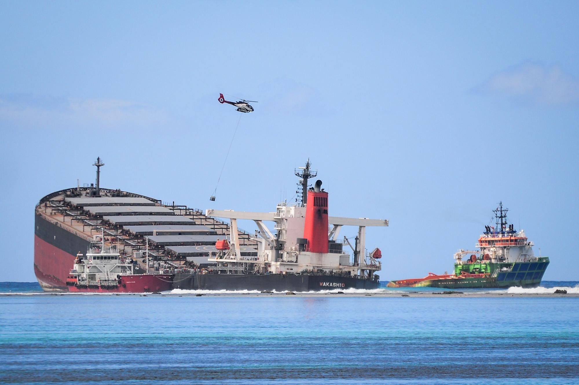 Mauritius Tanker Splits And Spills More Oil Into Indian Ocean