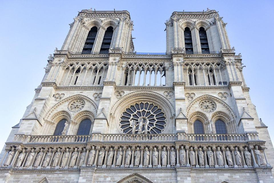 <p>Notre-Dame is not only one of the most famous cathedrals in Europe, but in all the world. Situated in the heart of Paris right off the Seine, construction of Notre-Dame began in 1163, and it was consecrated 26 years later. </p><p>While it's an impressive feat that the cathedral is still standing nearly 1,000 years after its construction, it has seen much damage and deterioration over the years. Its restoration can be attributed to Emperor Napoleon for making Notre-Dame his passion project after the French Revolution, as well as Victor Hugo's eponymous book. A fire broke out in 2019 during another restoration, destroying most of the roof and Viollet-le-Duc's 19th-century spire. </p>