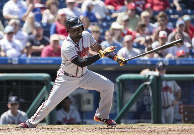 "<a class=""link rapid-noclick-resp"" href=""/mlb/players/6857/"" data-ylk=""slk:Brandon Phillips"">Brandon Phillips</a> is going to the Angels. (AP Photo/Chris Szagola)"