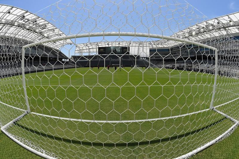 LOS ANGELES, CA - APRIL 18: Players of the Los Angeles FC practice for the first time on the field at the Banc of California Stadium on April 18, 2018 in Los Angeles, California. (Photo by Jayne Kamin-Oncea/Getty Images)