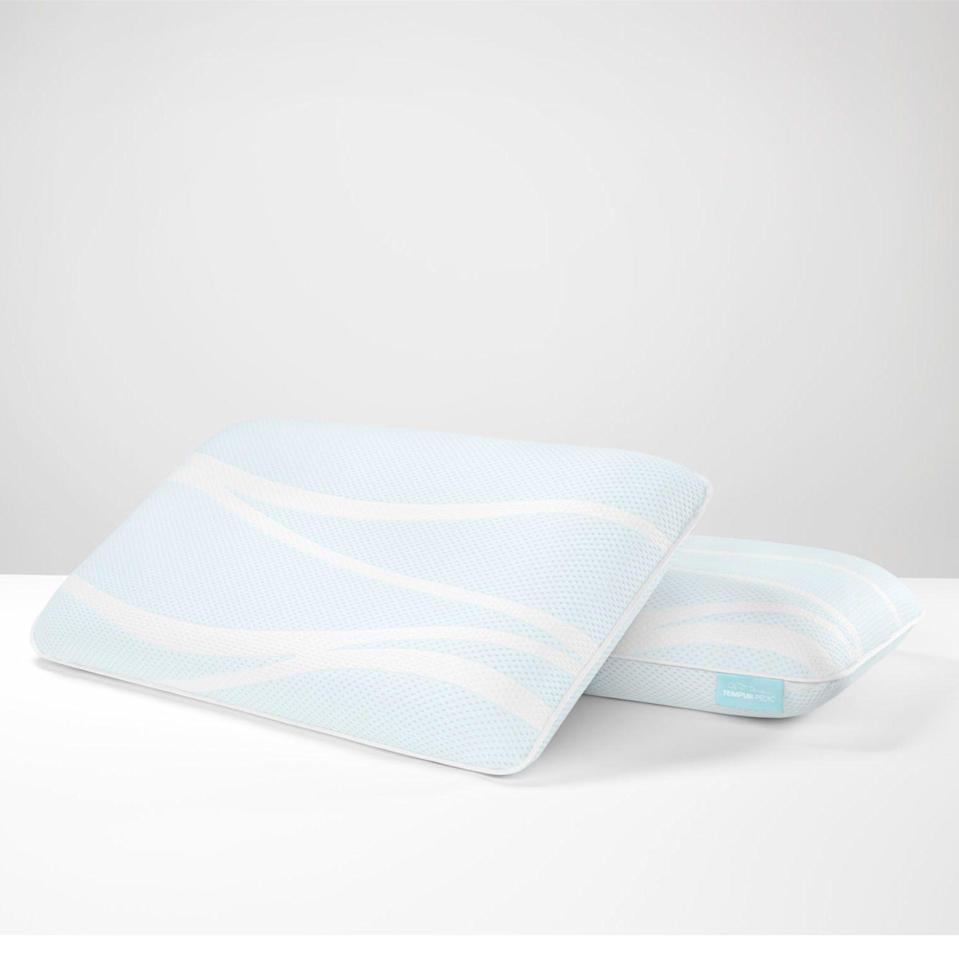 """<p><strong>Tempur-Pedic</strong></p><p>tempurpedic.com</p><p><strong>$199.00</strong></p><p><a href=""""https://go.redirectingat.com?id=74968X1596630&url=https%3A%2F%2Fwww.tempurpedic.com%2Fshop-pillows%2Ftempur-breeze-pro-cooling-pillow%2Fv%2F3182%2F&sref=https%3A%2F%2Fwww.goodhousekeeping.com%2Fhome-products%2Fpillow-reviews%2Fg30705146%2Fbest-pillows-for-neck-pain%2F"""" rel=""""nofollow noopener"""" target=""""_blank"""" data-ylk=""""slk:Shop Now"""" class=""""link rapid-noclick-resp"""">Shop Now</a></p><p>Testers rave about the supportive feel of Tempur-Pedic foam in everything from <a href=""""https://www.goodhousekeeping.com/home-products/a25576306/best-mattress-toppers/"""" rel=""""nofollow noopener"""" target=""""_blank"""" data-ylk=""""slk:mattress toppers"""" class=""""link rapid-noclick-resp"""">mattress toppers</a> to pillows. The high height is perfect for side sleepers, with back sleeper testers preferring the low height. This pillow features <strong>three levels:</strong> <strong>a machine washable cover, cooling gel, and the classic TEMPUR memory foam fill</strong>. While testers found the memory foam comfortable and supportive, it did not spring back quickly in our Lab evaluations, so it's best for someone who doesn't toss and turn. </p><p><strong>Sleeping Position: </strong>Side <strong><br>Fill: </strong>Memory foam<br><strong>Care: </strong>Cover is machine washable<strong><br>Sizes:</strong> Standard and King</p>"""