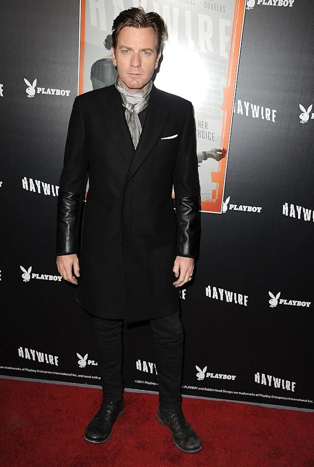 "<a href=""http://movies.yahoo.com/movie/contributor/1800019128"">Ewan McGregor</a> at the Los Angeles premiere of <a href=""http://movies.yahoo.com/movie/1810215399/info"">Haywire</a> on January 6, 2012."