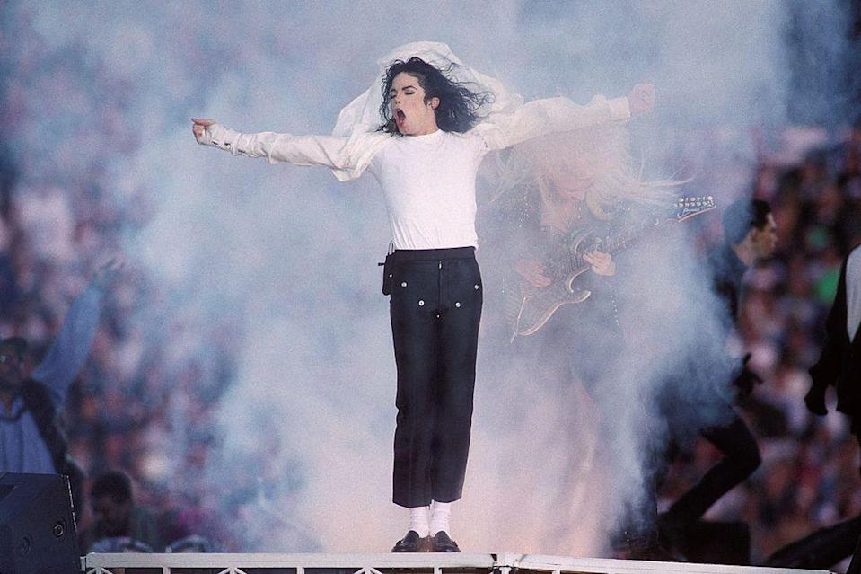 <p>Jackson removed the jacket and added a billowing shirt for the second half of his performance. </p>