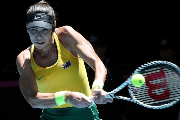 Ajla Tomljanovic of Australia failed to hit a single winner in the opening set against Kristina Mladenovic of France