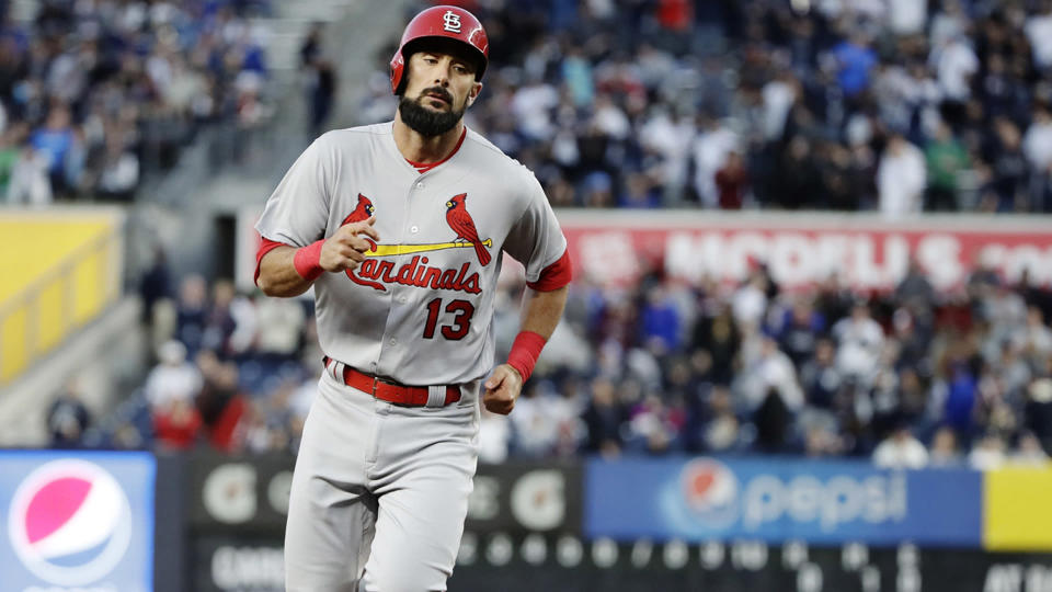Matt Carpenter is giving $10,000 for every homer to relief efforts in Houston. (AP)