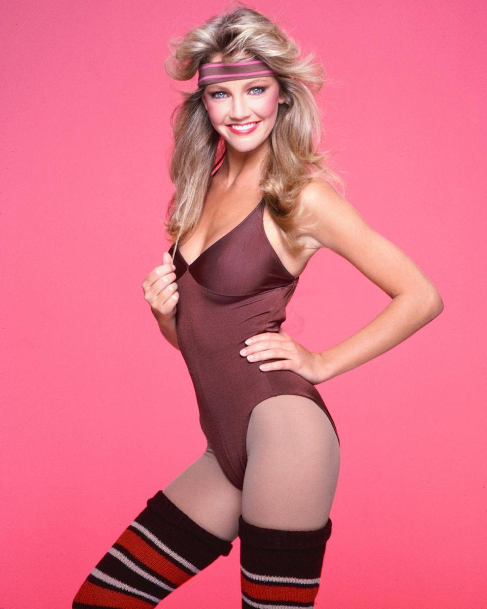 <p>Let's get physical? Joke's on you. Heather Locklear was probably just wearing this to run a few errands. </p>
