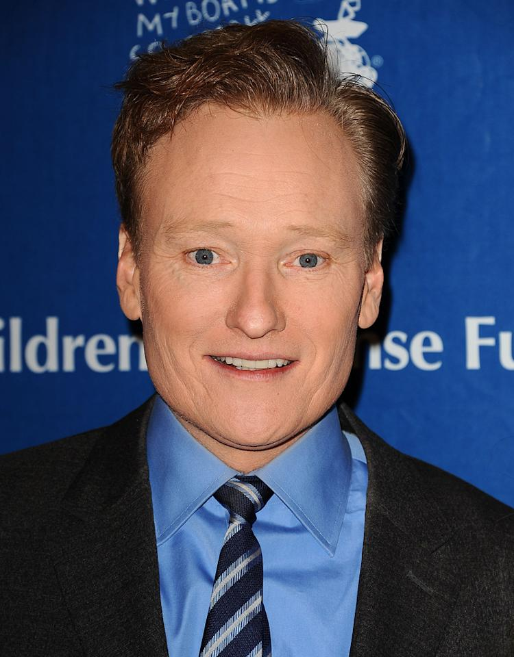 "BEVERLY HILLS, CA - DECEMBER 06:  Conan O'Brien attends the Children's Defense Fund's 22nd annual ""Beat the Odds"" Awards at the Beverly Hills Hotel on December 6, 2012 in Beverly Hills, California.  (Photo by Jason LaVeris/FilmMagic)"