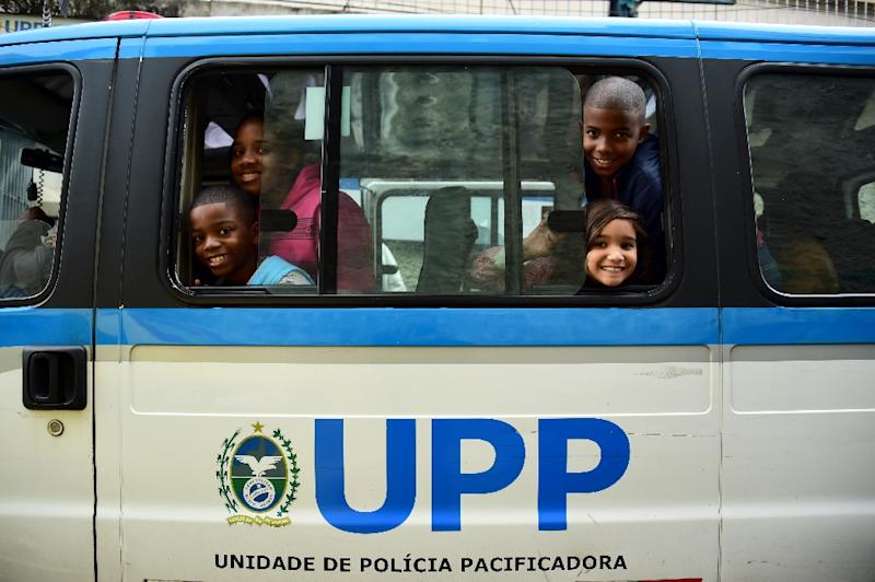 The idea behind Rio's 'peace police' units was to have a local team of officers who would live and patrol inside the favelas in a bid to displace drug traffickers