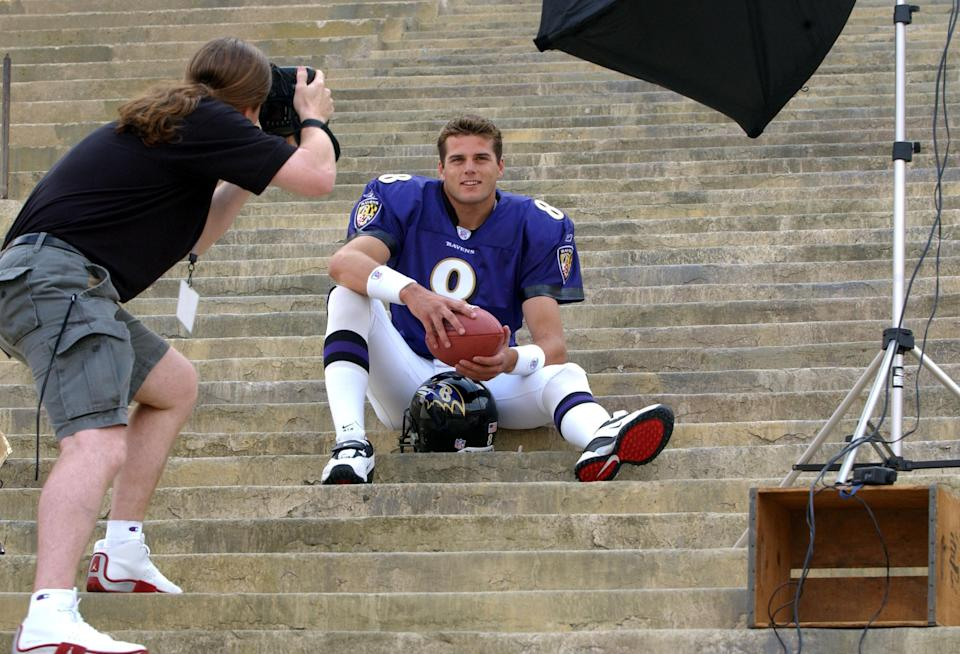 The Ravens traded a first-round pick to select Kyle Boller in the 2003 NFL draft. (Getty)